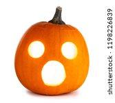 shocked glowing halloween... | Shutterstock . vector #1198226839