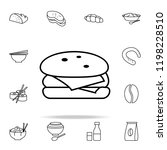 hamburger icon. food icons...