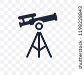 antique telescope transparent... | Shutterstock .eps vector #1198228843