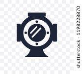 diving helmet transparent icon. ... | Shutterstock .eps vector #1198228870
