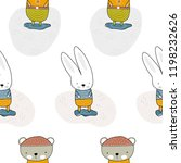 bear and rabbit standing in a... | Shutterstock .eps vector #1198232626