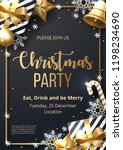 christmas party poster template ... | Shutterstock .eps vector #1198234690