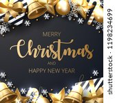 merry christmas background with ... | Shutterstock .eps vector #1198234699