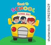 school bus illustration. back... | Shutterstock .eps vector #1198235629