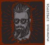 original vector portrait of a... | Shutterstock .eps vector #1198235926
