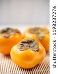 close up of persimmon fruit ... | Shutterstock . vector #1198237276