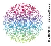 round gradient mandala on white ... | Shutterstock .eps vector #1198239286