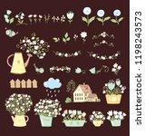 big set of sweet garden icon ... | Shutterstock .eps vector #1198243573