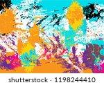 abstract vector splatter color... | Shutterstock .eps vector #1198244410