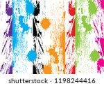 abstract vector splatter color... | Shutterstock .eps vector #1198244416