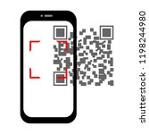 transparent screen smartphone... | Shutterstock .eps vector #1198244980