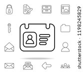 id card icon. web icons... | Shutterstock .eps vector #1198245829