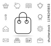 shopping bag icon. web icons... | Shutterstock .eps vector #1198245853
