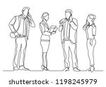 continuous line drawing of... | Shutterstock .eps vector #1198245979