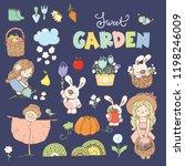big set of sweet garden icon ... | Shutterstock .eps vector #1198246009