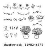 big set of floral design... | Shutterstock .eps vector #1198246876