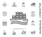 ship with containers outline... | Shutterstock .eps vector #1198247749
