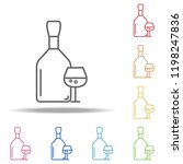 bottle and glass of cognac icon.... | Shutterstock .eps vector #1198247836