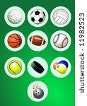 sport balls icon set | Shutterstock .eps vector #11982523