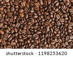 coffee beans texture background | Shutterstock . vector #1198253620