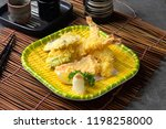 ebi tempura shrimp with... | Shutterstock . vector #1198258000