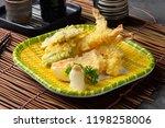 ebi tempura shrimp with... | Shutterstock . vector #1198258006