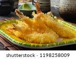 ebi tempura shrimp with... | Shutterstock . vector #1198258009