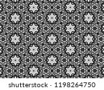 ornament with elements of black ... | Shutterstock . vector #1198264750