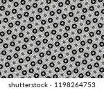 ornament with elements of black ... | Shutterstock . vector #1198264753