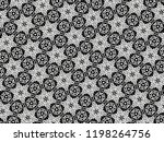 ornament with elements of black ... | Shutterstock . vector #1198264756