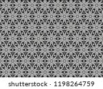 ornament with elements of black ... | Shutterstock . vector #1198264759
