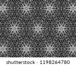 ornament with elements of black ... | Shutterstock . vector #1198264780