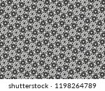 ornament with elements of black ... | Shutterstock . vector #1198264789