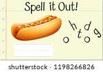 spell english word hotdog... | Shutterstock .eps vector #1198266826