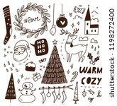 cute doodle with mix of various ... | Shutterstock .eps vector #1198272400