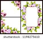 vintage delicate greeting... | Shutterstock . vector #1198275610