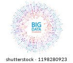 big data visualization concept... | Shutterstock .eps vector #1198280923