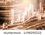 stock market or forex trading... | Shutterstock . vector #1198290223