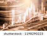 stock market or forex trading... | Shutterstock . vector #1198290223