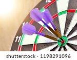 success hitting target aim... | Shutterstock . vector #1198291096