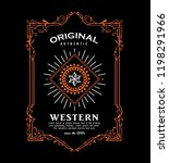 antique frame western design... | Shutterstock .eps vector #1198291966