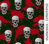 decorative horror seamless... | Shutterstock .eps vector #1198293910