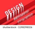 vector of modern abstract font... | Shutterstock .eps vector #1198298326