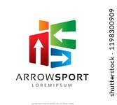 arrow logo template design... | Shutterstock .eps vector #1198300909