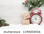 christmas gift boxes  alarm... | Shutterstock . vector #1198303036