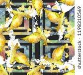 sky bird colorful colibri in a... | Shutterstock . vector #1198310569