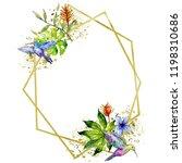sky bird colorful colibri in a... | Shutterstock . vector #1198310686