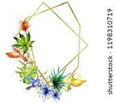sky bird colorful colibri in a... | Shutterstock . vector #1198310719
