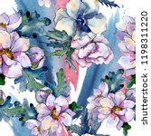 watercolor colorful bouquet...   Shutterstock . vector #1198311220