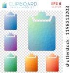 clipboard geometric polygonal... | Shutterstock .eps vector #1198313203